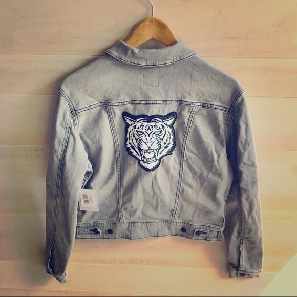 LuLaRoe Jackets & Blazers - LuLaRoe Kenny Denim Tiger Patch Jacket